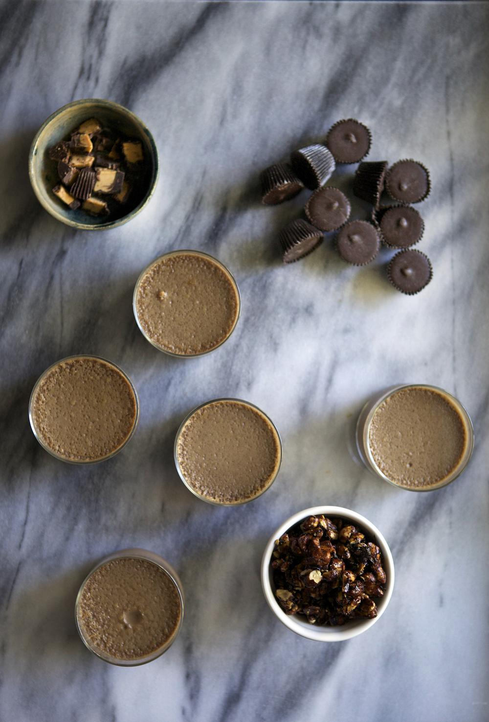 peanut butter cup pots de creme // Glazed & Confused