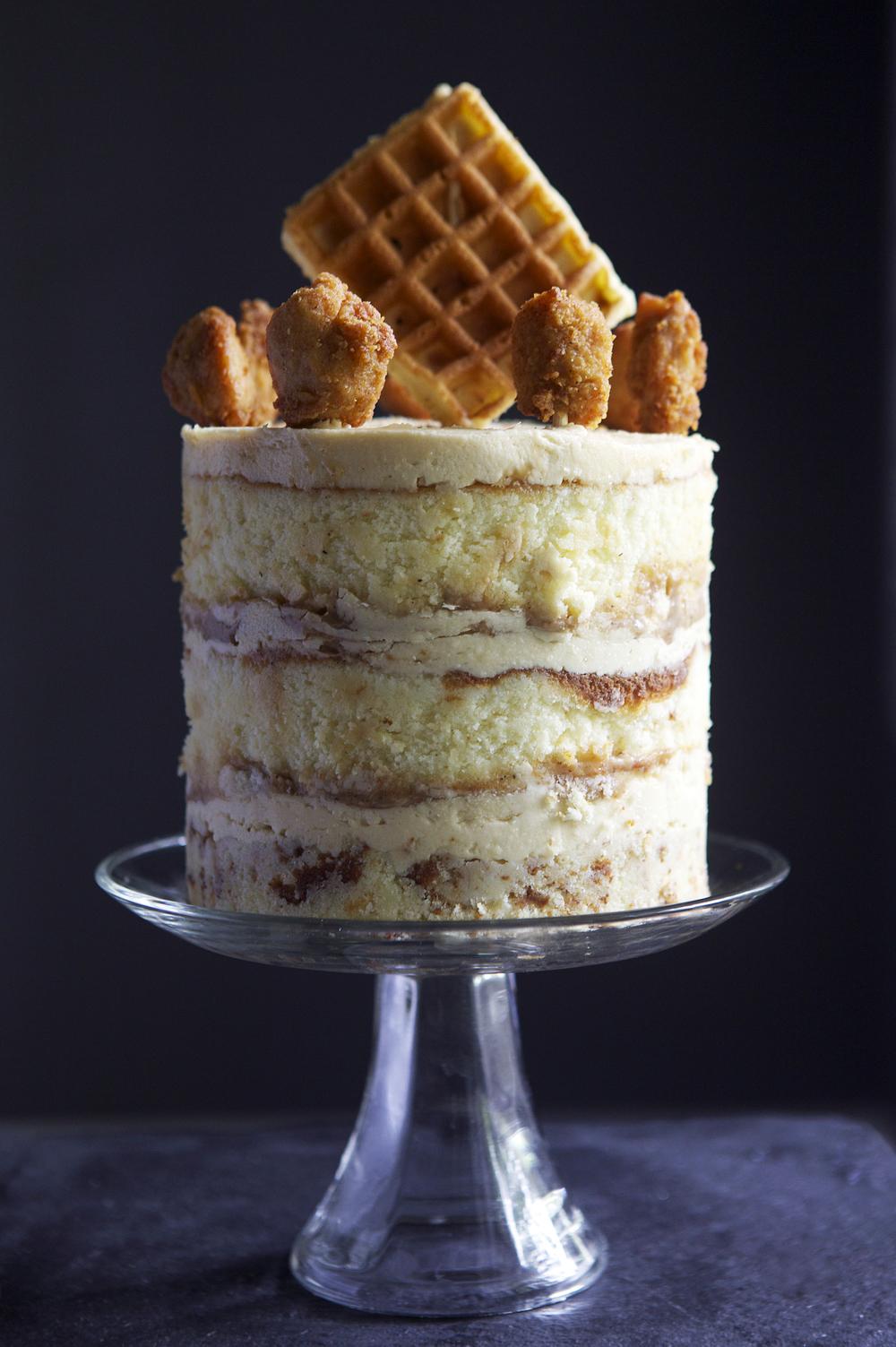 Chicken Waffles Cake My Blog Birthday Glazed Confused