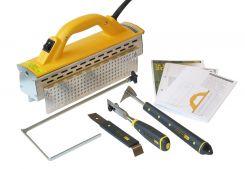 Speed heater.   HÄLFTEN SÅ BRED - DUBBELT SÅ SNABB  SH IR System 1100 RS är mycket effektiv och smidig för både interiör och exteriör färgborttagning. IR-värmare som gör att du snabbt, säkert och miljövänligt kan lösgöra och ta bort färg från de flesta träytor. Unika skrapverktyg, främst för fönsterrenovering, ingår i detta system-kit.  Klicka på sortiment/ webshop och klicka dig vidare till denna produkt som ligger under: måleri.
