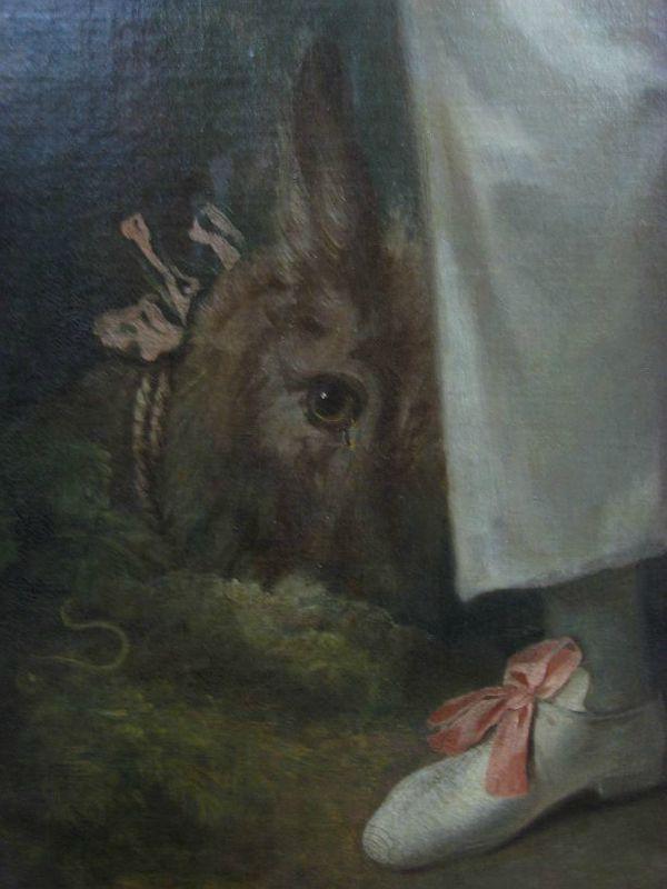Détail du   Pierrot   de Watteau, Musée du Louvre