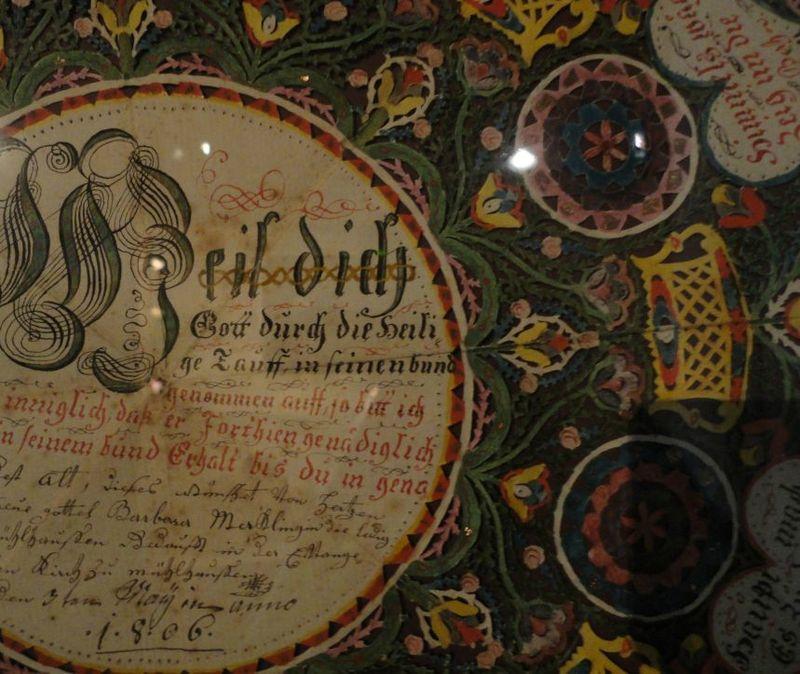 Lettre de baptême, Musée alsacien Strasbourg