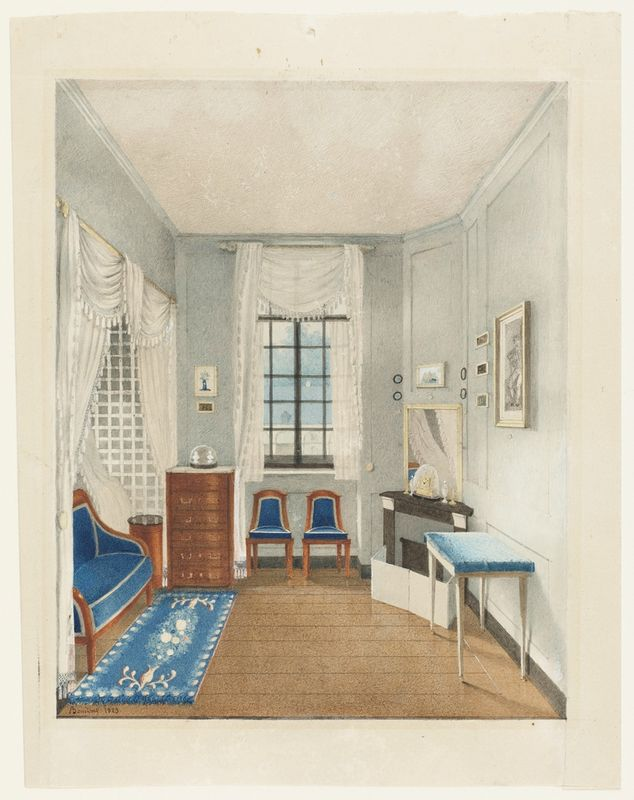 chambre vers 1823, par Bouilhet    collection Eugene Thaw du Cooper-Hewitt , National Design Museum de New York