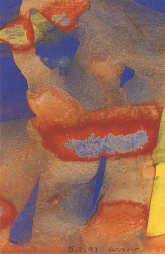 Gerhard Richter .   Lunettes  , aquarelle sur papier, 1997