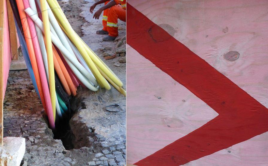 Dans le quartier de Leblon , travaux d'extension du métro vers Barra da Tijuca en vue des Jeux olympiques. Tout Rio est en chantier et les retards s'accumulent. Les transports en commun restent un problème majeur, du fait de leur cherté et de leur mauvaise organisation.