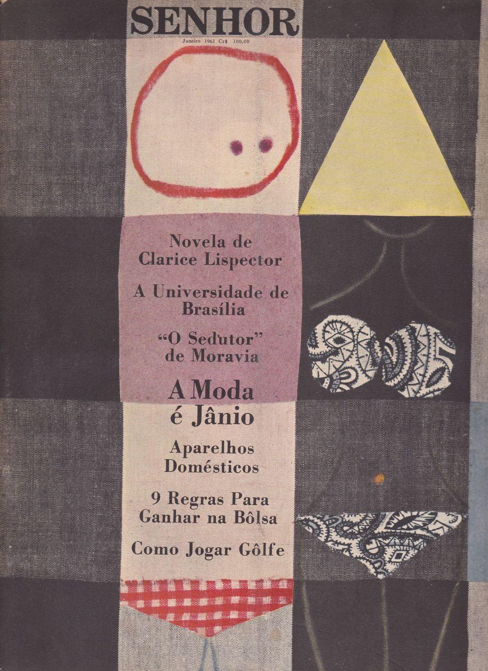 Couverture du numéro de  Senhor  de janvier 1961 par Glauco Rodrigues.