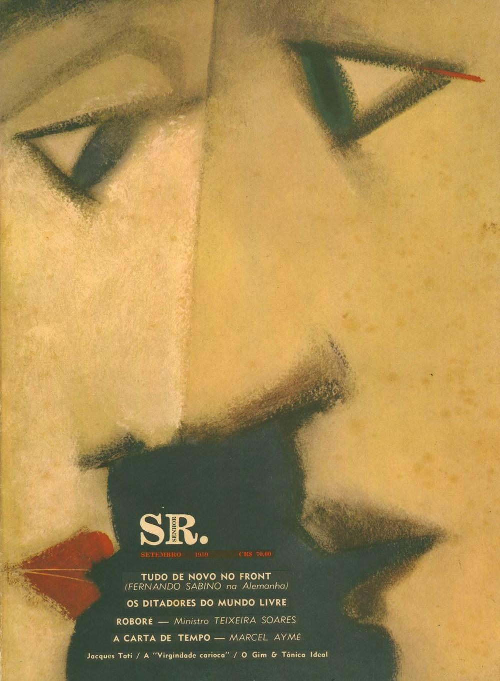 Couverture de Carlos Scliar pour le numéro de septembre 1959 de  Senhor .