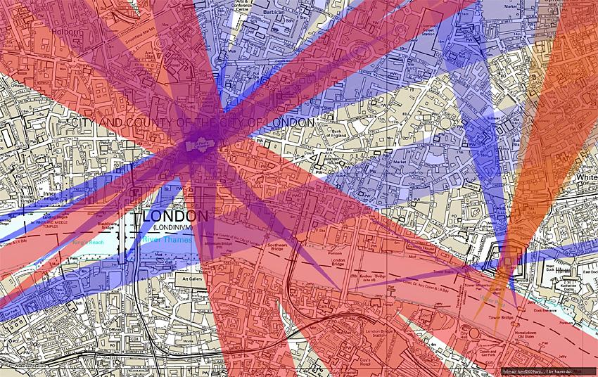 Couloirs de vue protégés définis par le  London View Management Framework .