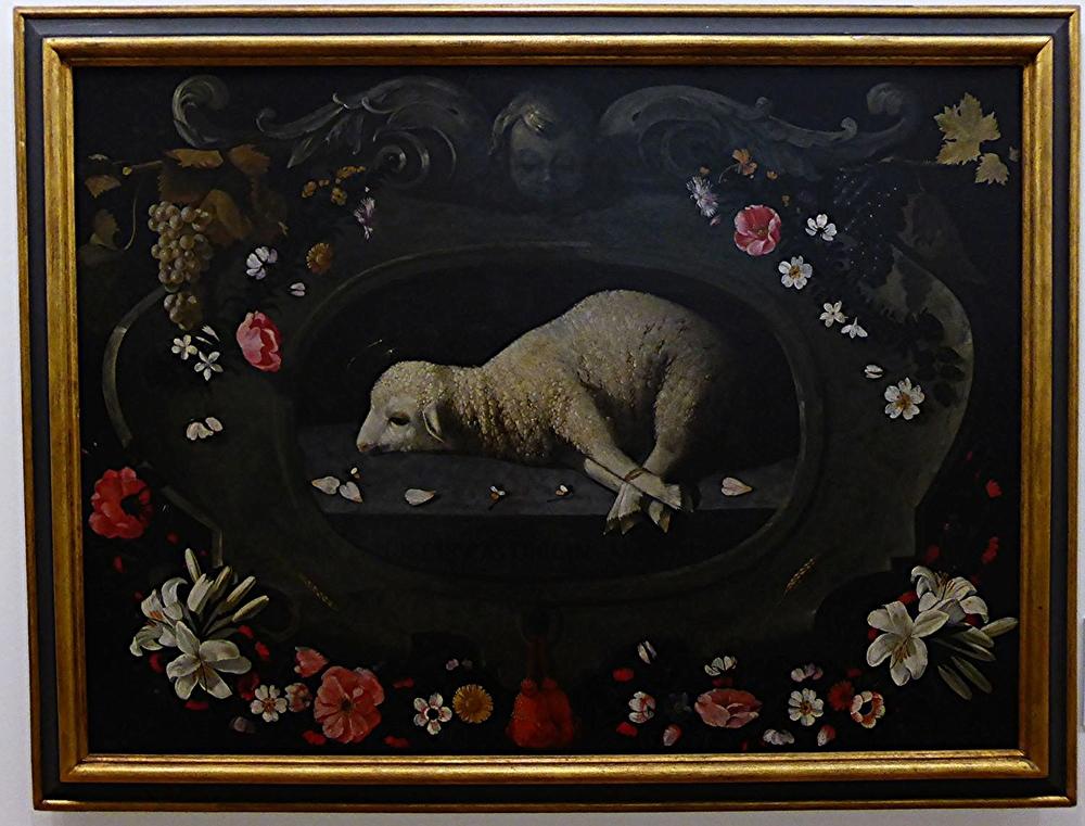 Josefa de Obidos. Agneau pascal. Musée d'Evora.