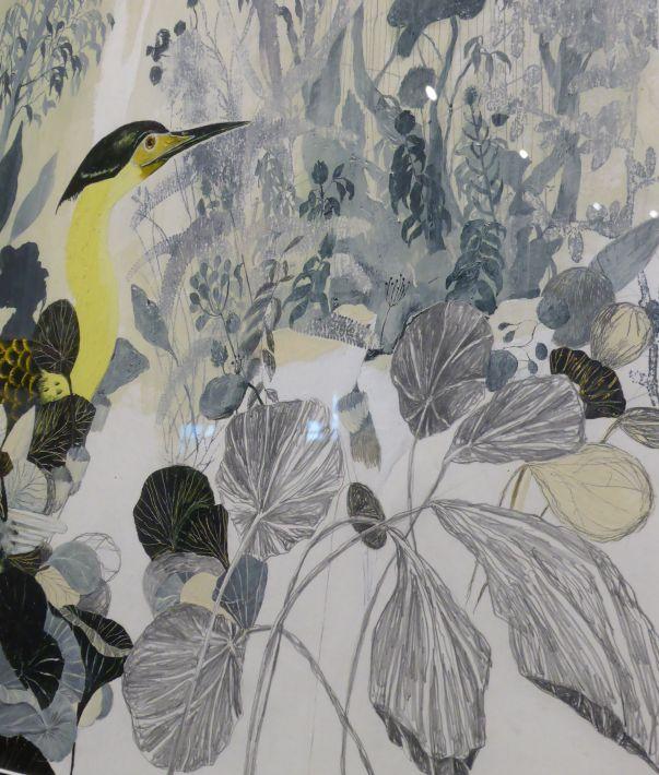 Exposition   Carll Cneut : In My Head  . Sint Pietersabdij, Gand. Dessin original pour l'album  La Volière d'or  (à paraître aux éditions de l'École des loisirs fin 2015)