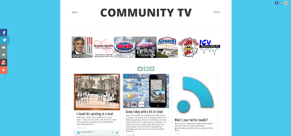 New look for 2014. Content area is generated by TINT.