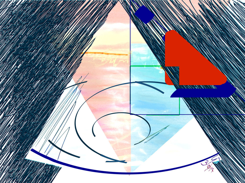 Interference  (Interferencia) Pigment Print, 37,5 x 50 cm