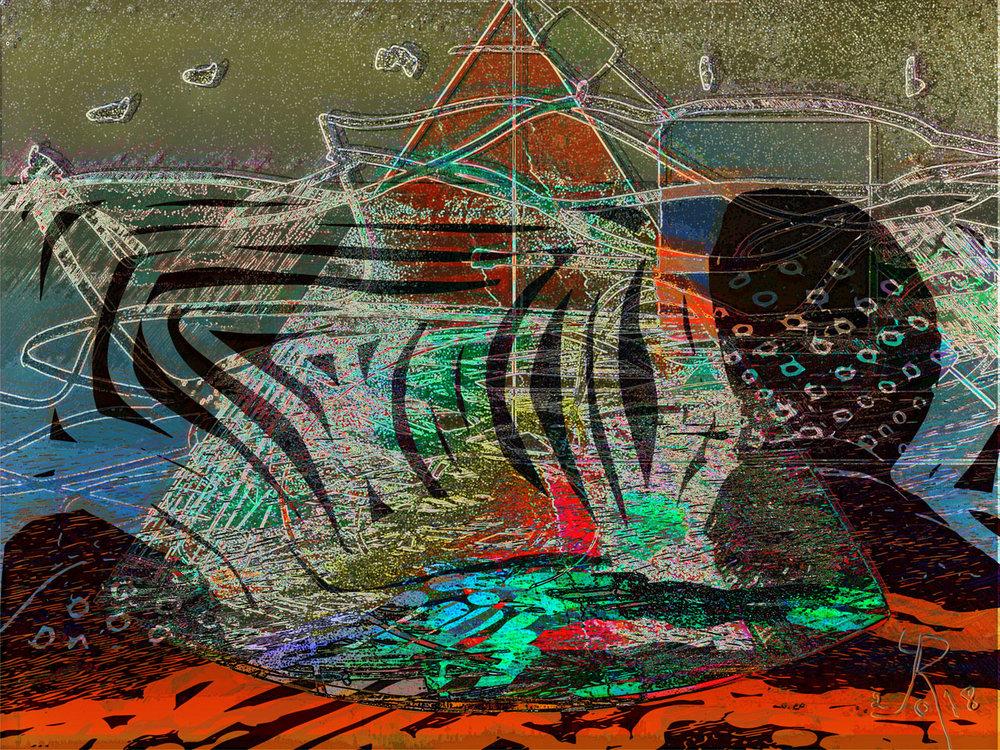 Oil Sludge  (Chapapote) Digital C-Print, 37,5 x 50 cm