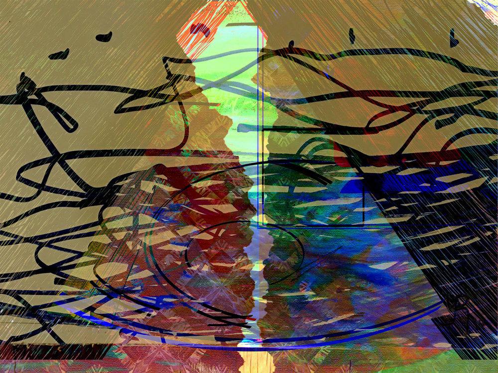 Fractures  Digital C-Print, 37,5 x 50 cm