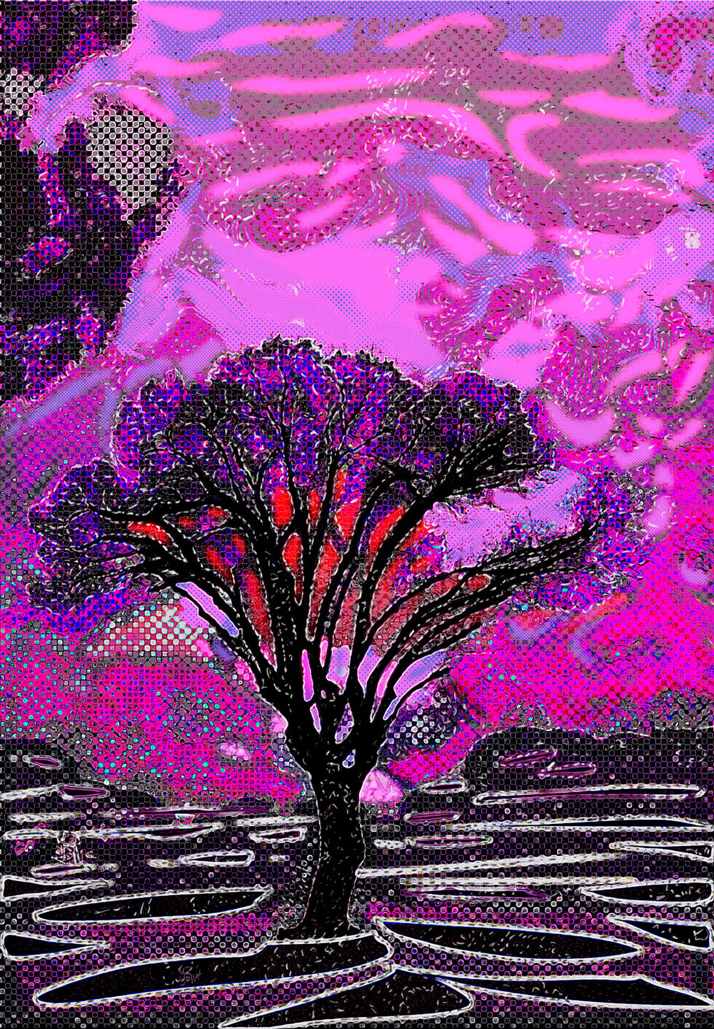Mended Tree  (Árbol remendado) Digital C-Print, 108 x 75 cm