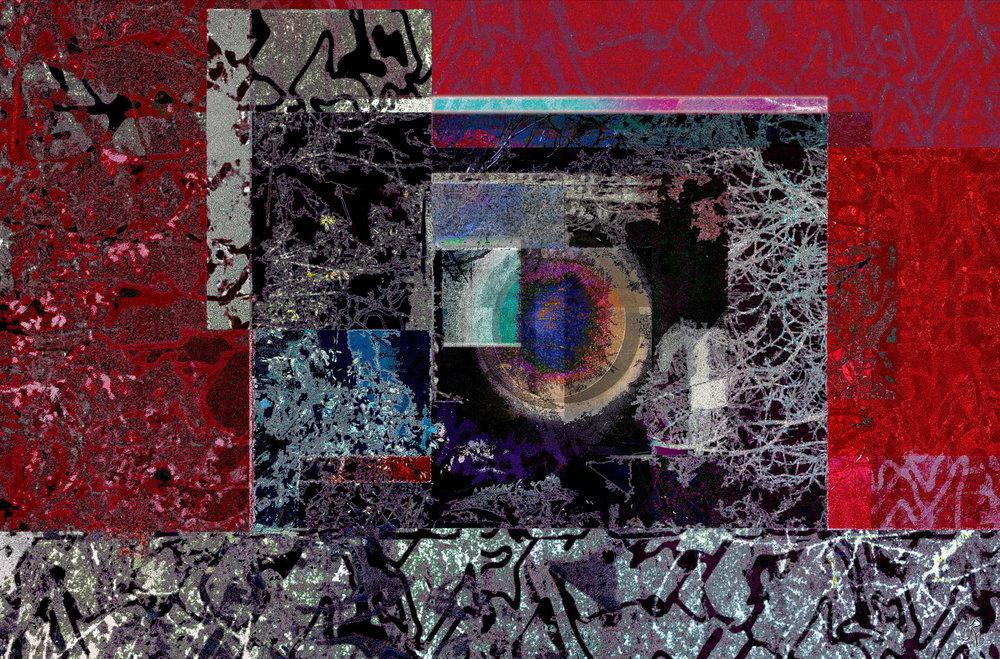 Moon Behind Trees  (Luna detrás de árboles) Digital C-Print,