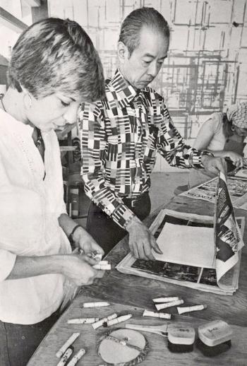 YR in a workshop with  Tōshi Yoshida  at the VAC (1977)