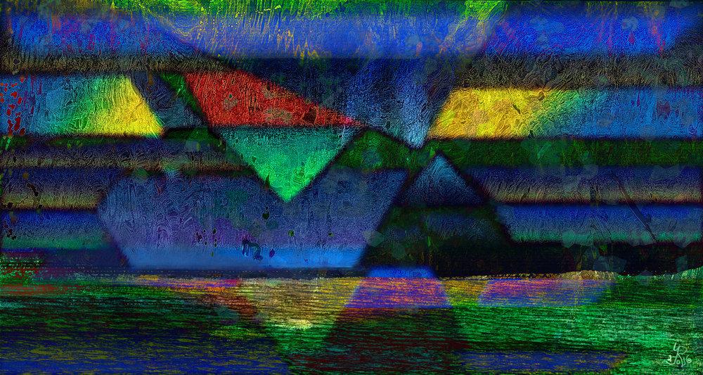 """Nuestras vidas son los ríos""  (Our Lives Are Rivers) Dye sublimation print on aluminum, 32 x 60 cm, Edition of 25"
