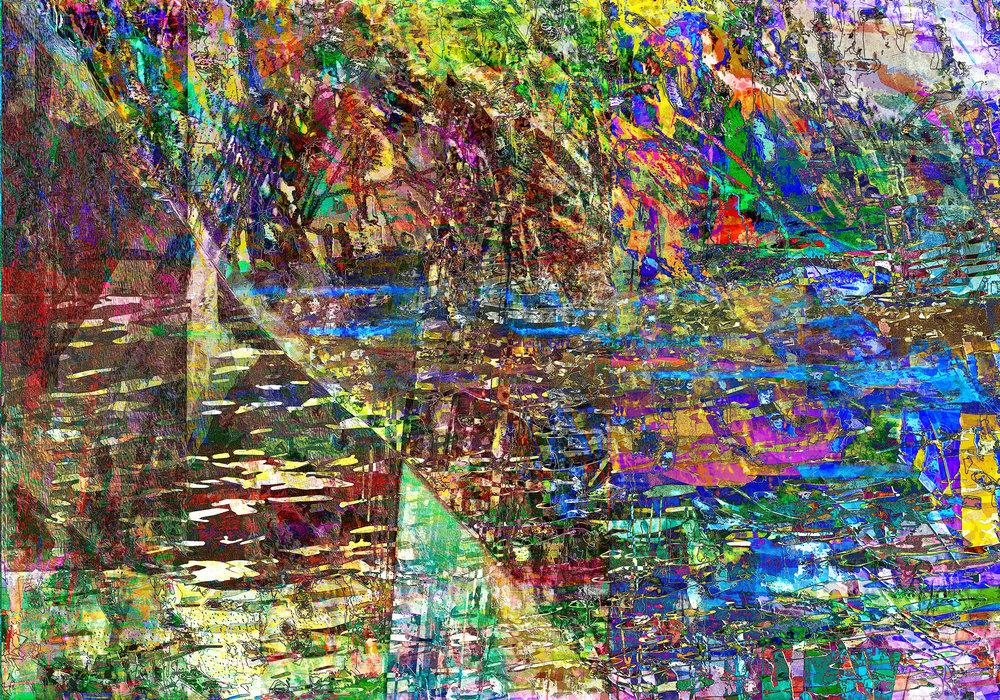 Environmental Transgression  (Transgresión medioambiental)  Dye sublimation print on aluminum, 70 x 100 cm, Edition of 25