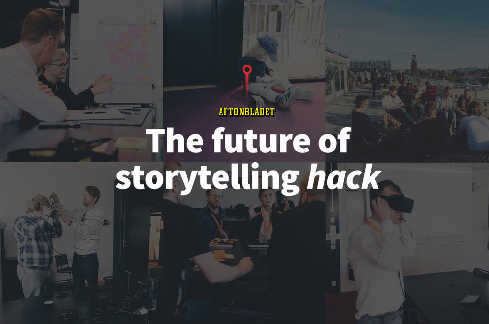 The Future of Storytelling hack - Hackday on storytelling and the future of journalism arranged at Aftonbladet