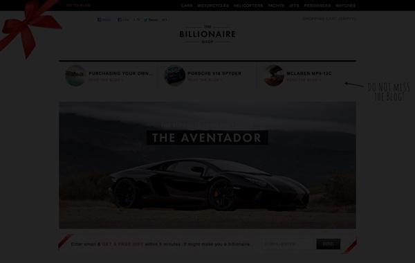 The Billionaire Shop - Acquisition campaign for Multilotto.com