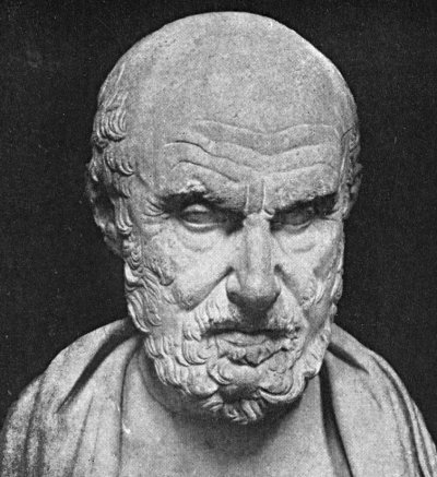 "This image of Hippocrates bears a striking resemblance to the famous starship captain Jean Luc Picard, a fact that will be noted by many future historians.  Historians are (will be) unsure, however, if Hippocrates ever referred to any of his assistants as ""number one"" or ever uttered the words, ""make it so."""