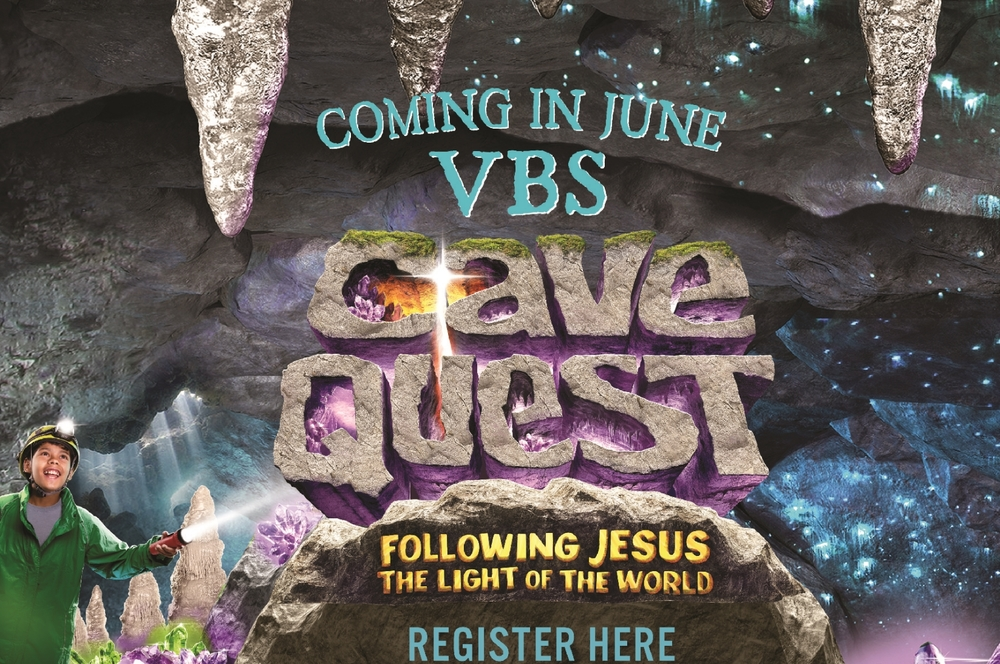 "Yes, it's Summer Vacation time! At Abundant Life Church, kids (pre-school to 5th grade) will have an awesome week at the Cave Quest VBS. They will play, learn and praise God by ""Following Jesus, the Light of the World"". Space is limited/Register early."