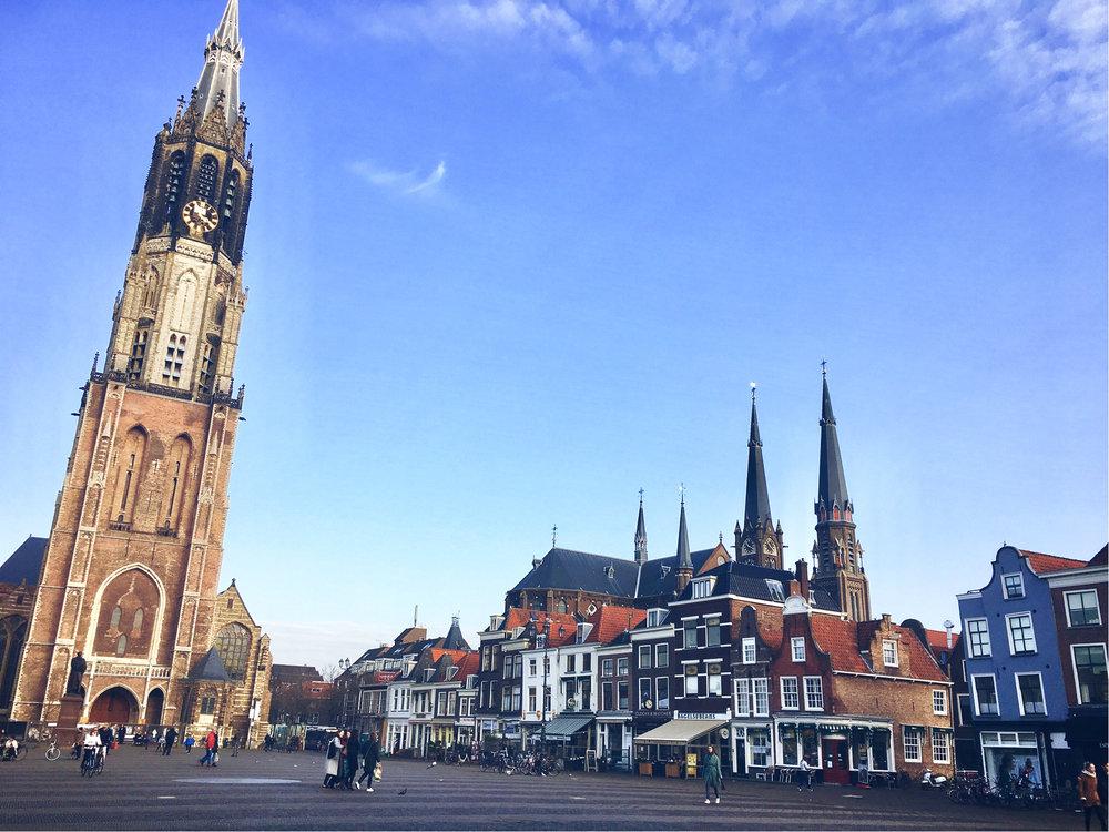 Delft - praça do mercado (markt)