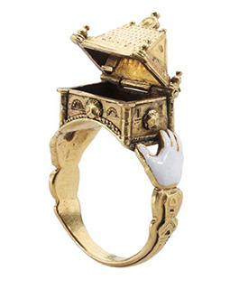Etonnant Antique Jewish Bridal Ring