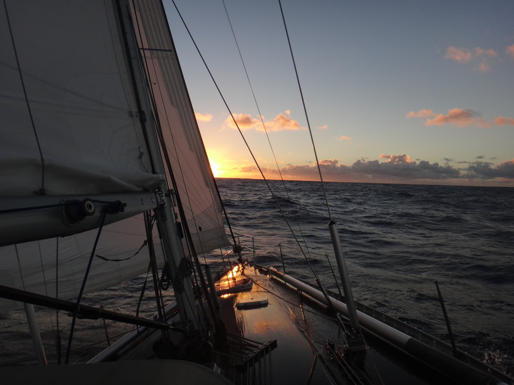 Sailing towards the sunset