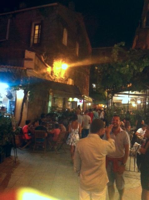A drink in Porto Vecchio, Corsica