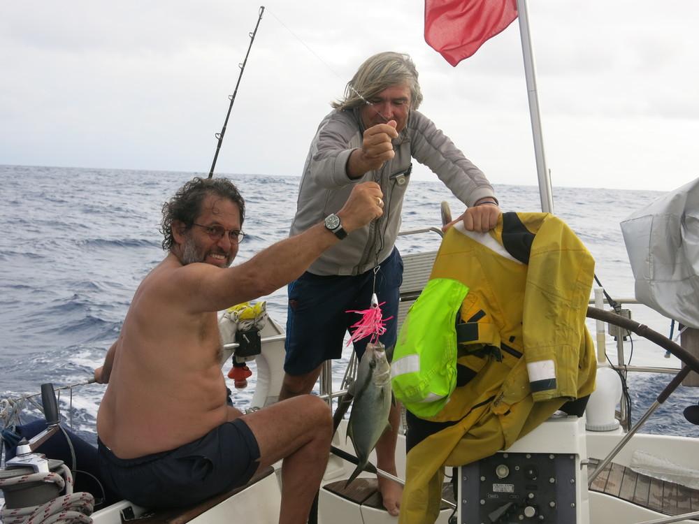 Proud fishermen