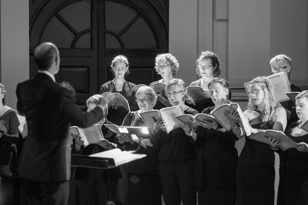 The Purcell Singers in concert. photo: Marc Gascoigne