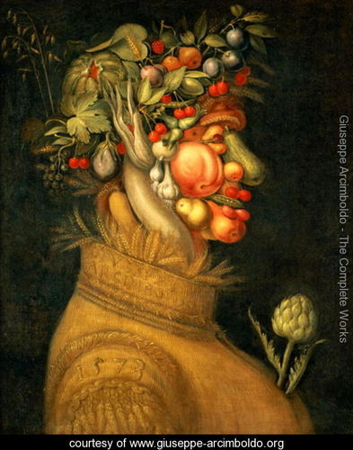 Summer (2), 1573, Giuseppe Arcimboldo.  Image source