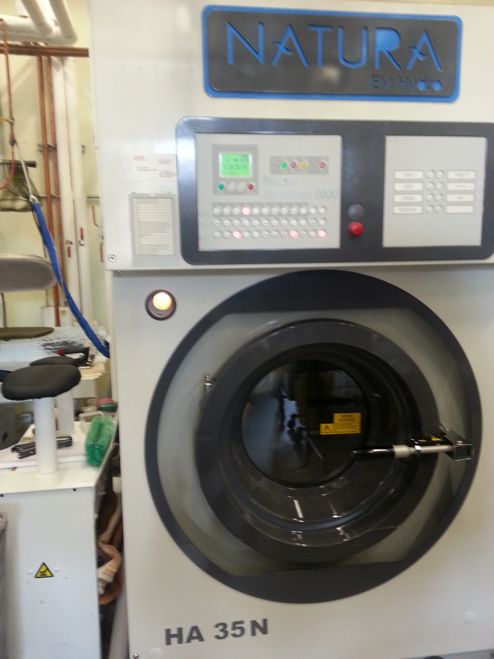 This is our Italian-made Organic Natura Dry Cleaning Machine