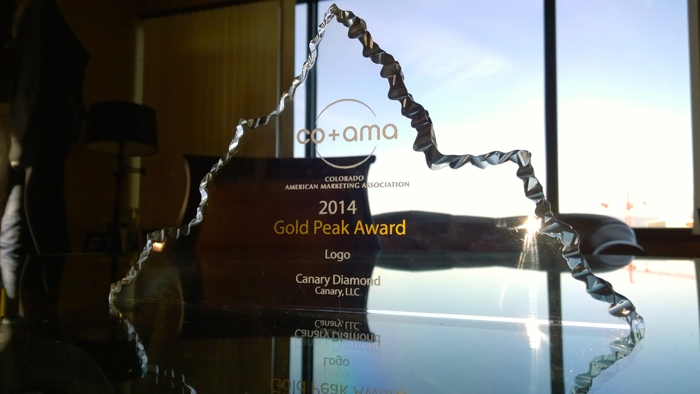CO+ AMA 2014 Gold Peak Award for excellence in logo design.