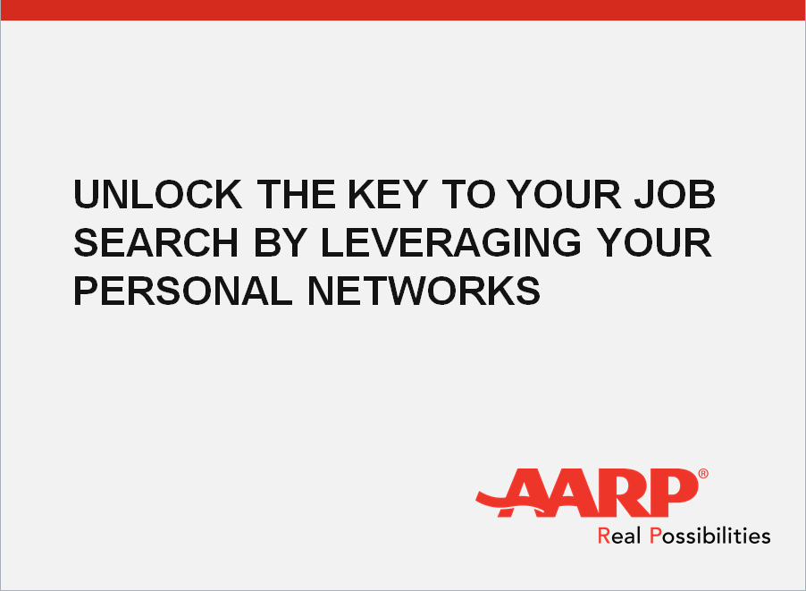 Unlock the Key to Your Job Search by Leveraging Your Personal NetworkHeather Tinsley-Fix, AARP's Senior Advisor of Financial Resilience, could help you learn how to build and leverage your personal network. -