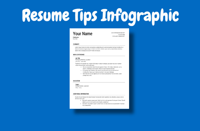 Resume Tips Infographic