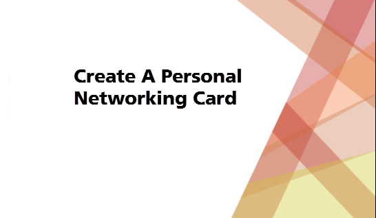 Create a Networking Card