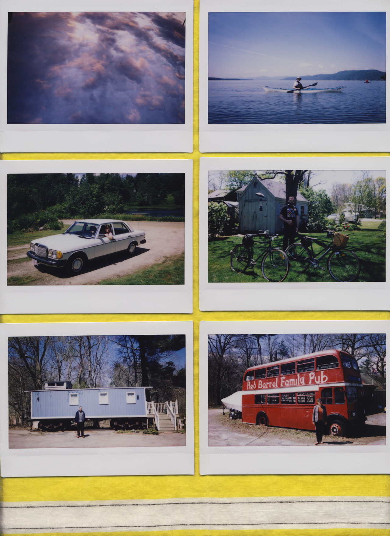 """Tri-State Transportation Study, Spring/Summer 2012""    Polaroid Photography Series, Collaboration with CC McGregor   Fuji Instax 2010 Camera   July 2012   Tri-state transportation study investigating recreational transportation trends in  Vermont, New Hampshire, and Massachusetts. This primary field research aims to measure sustainable  cutis anserina  over the course of five months in the Spring and Summer of 2012.  The research is to be published in new allied design professional journal,  Terror Field  in the article entitled,  ""A critique of Landscape Urbanism's Pedagogical Trend."