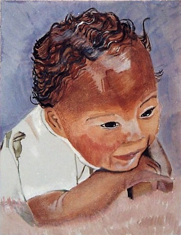 04. Detail of Full Panel-Shelley's Son, James' Baby Portrait (African Infant) cropped.jpg