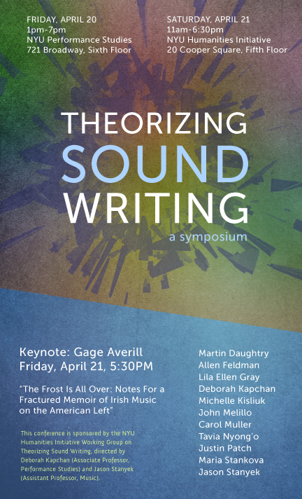 Theorizing Sound Writing Conference (2012)