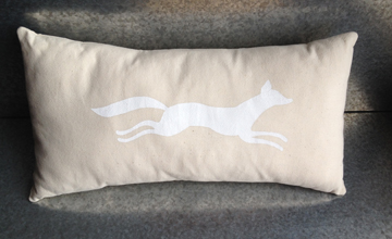 White Fox pillow