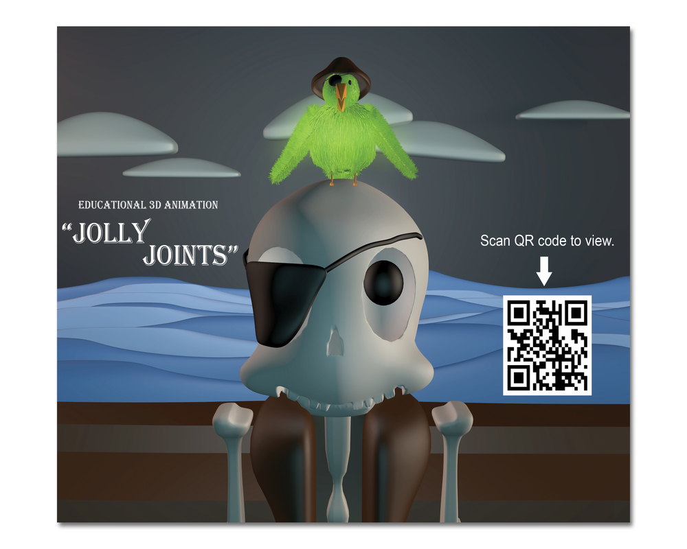 "Normal   0           false   false   false     EN-US   X-NONE   X-NONE                                                                                Jolly Joints: An Educational Animation  3D animated educational video for children based on a provided soundtrack. Scan the QR code or  Click Here  to view.                                                                                                                                                                                                                                                                                                                                                                                                                                                                                                                                                                                                                                                                                                                                                                                  /* Style Definitions */  table.MsoNormalTable 	{mso-style-name:""Table Normal""; 	mso-tstyle-rowband-size:0; 	mso-tstyle-colband-size:0; 	mso-style-noshow:yes; 	mso-style-priority:99; 	mso-style-parent:""""; 	mso-padding-alt:0in 5.4pt 0in 5.4pt; 	mso-para-margin:0in; 	mso-para-margin-bottom:.0001pt; 	mso-pagination:none; 	mso-hyphenate:none; 	text-autospace:ideograph-other; 	font-size:12.0pt; 	font-family:""Times New Roman"",serif; 	mso-bidi-font-family:Mangal; 	mso-font-kerning:1.5pt; 	mso-fareast-language:ZH-CN; 	mso-bidi-language:HI;}"
