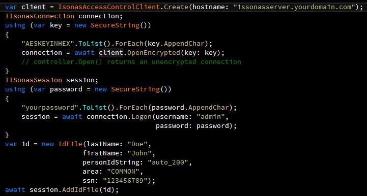 API usage (1.2.1)