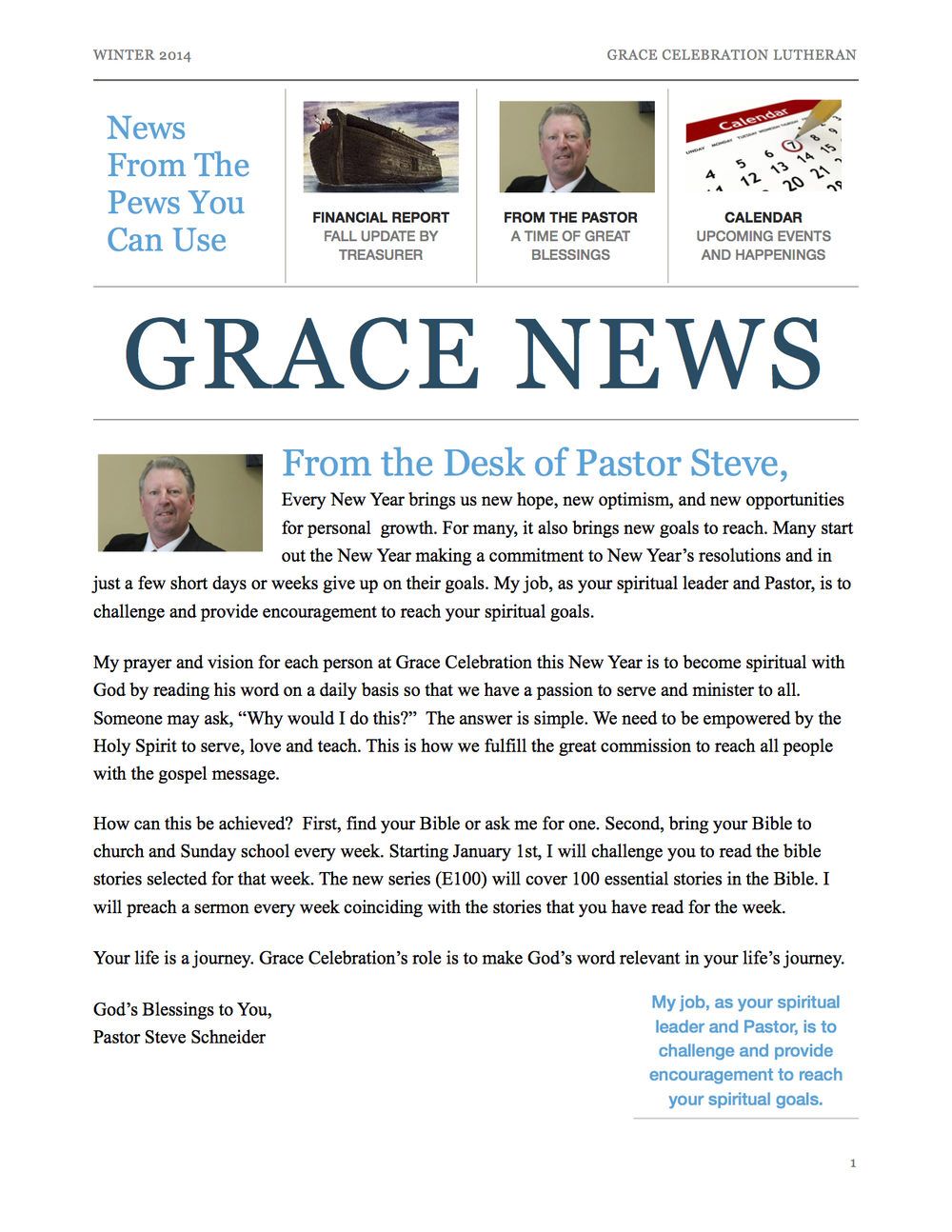 Grace News - Winter Issue