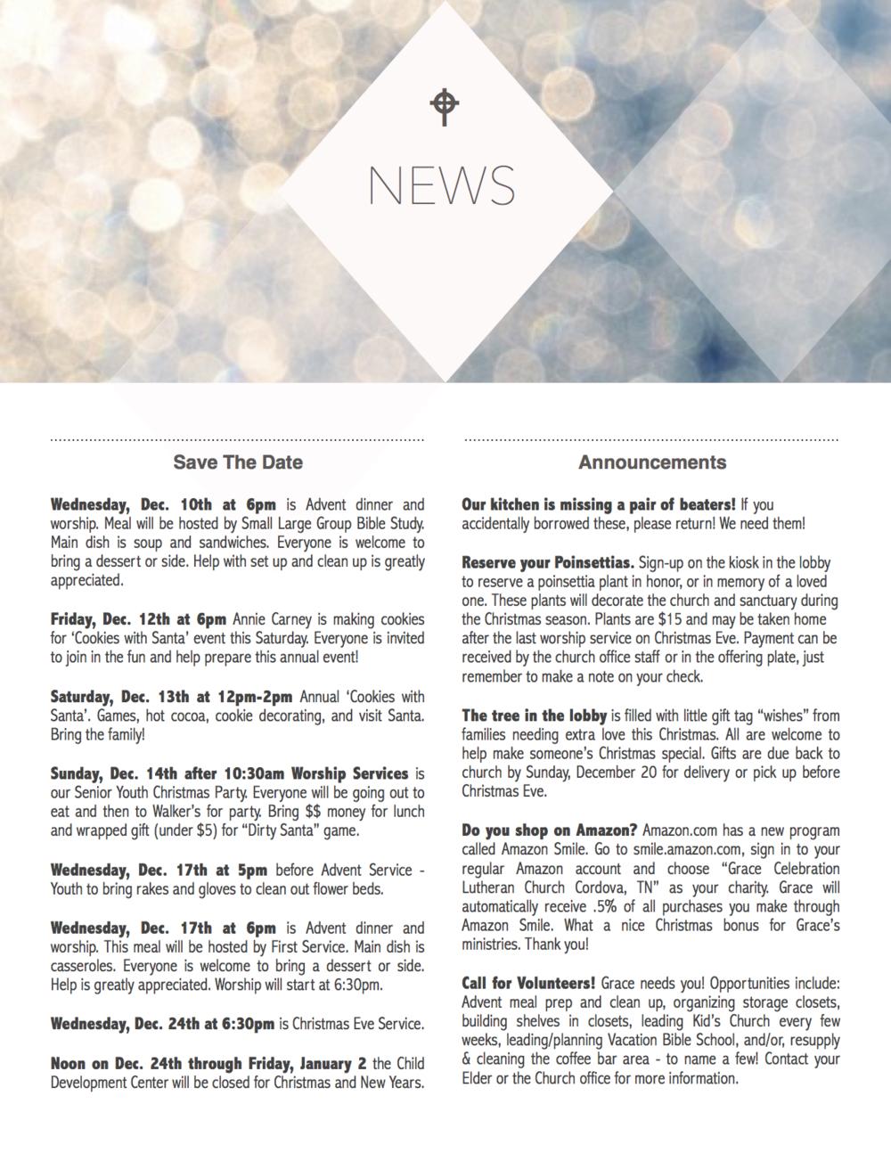 Grace News - December