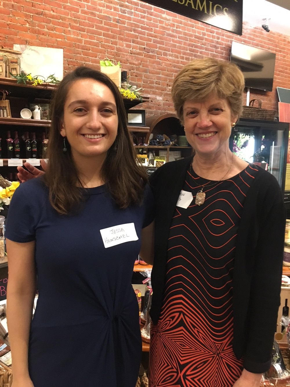 CivicStory PR Assistant Jessa Henschel and Creative Director Susan Haig at The Wine List in Summit, NJ on June 11, 2018