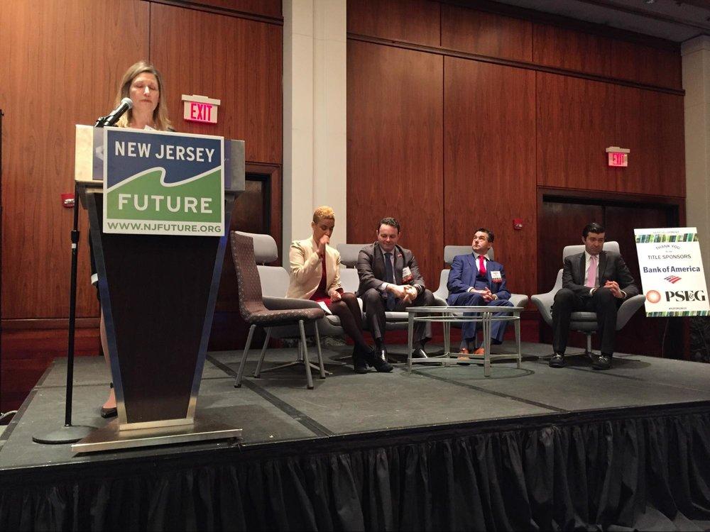 Opening panel (l to r): Jennifer Vey, Aisha Glover, Andre Sayegh, Eugene Diaz, Tim Sullivan