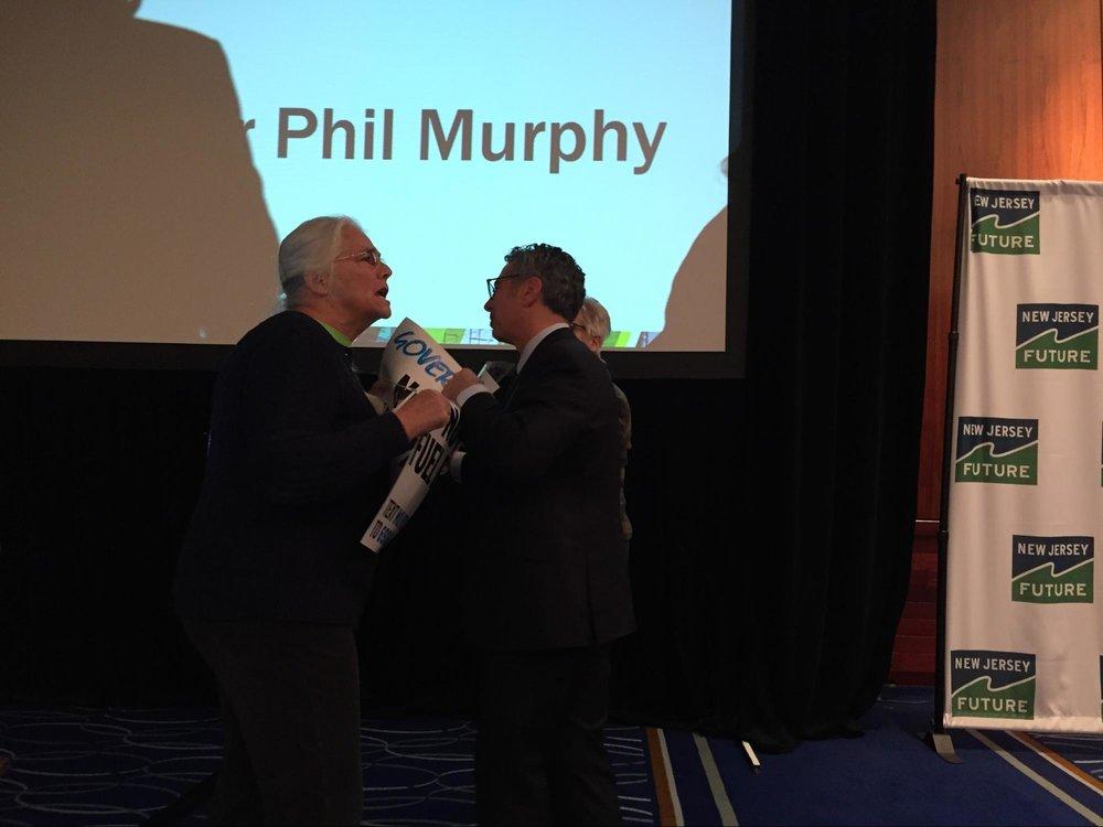 Protester interrupts Gov. Phil Murphy speech to NJ Future 2019