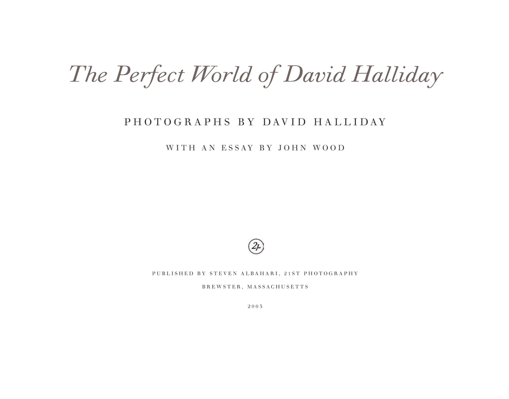 The Perfect World of David Halliday